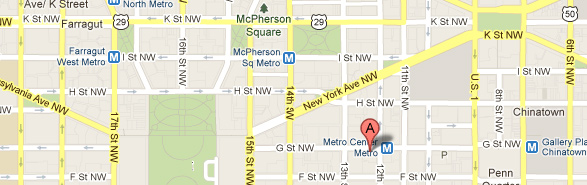 ATIS is located at 1200 G Street, NW in Washington DC